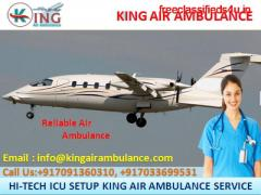 Instant & Safe Air Ambulance in kolkata for Patient Relocation by King