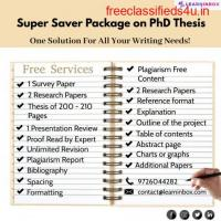 Super Saver Package on PhD Thesis