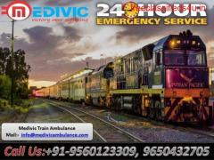 Get Medivic Aviation Train Ambulance Patient Transfer Services in Delhi with ICU Facilities