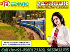 Get Medical Train Ambulance from Patna to Delhi with ICU setup
