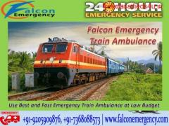 Get Train Ambulance Service in Delhi for critical Patient Transfer by Falcon Emergency