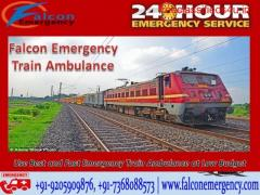 Use Train Ambulance from Patna to Delhi for Serious Patient Shifting by Falcon Emergency