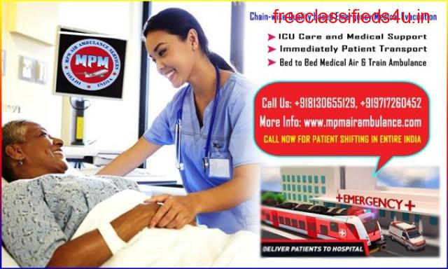 Get Train Ambulance from Patna to Delhi with Best Medical Team by MPM Ambulance