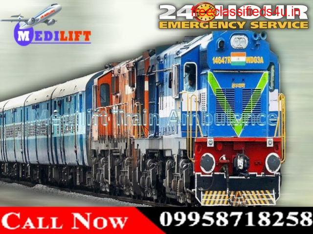 Get Quick and Best Medical Train Ambulance in Patna - Medilift