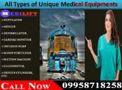 Medilift Train Ambulance in Raipur Provide Best ICU Service
