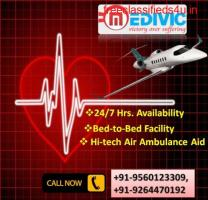 Evolved Life Support Air Ambulance Service in Bangalore by Medivic