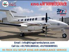 Finest Air Ambulance in Delhi with Medical Amenities by King Ambulance