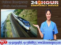 Get Falcon Train Ambulance from Patna to Delhi for Emergency Medical Services