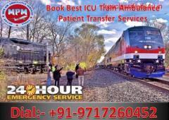 Get Low-Cost Train Ambulance from Patna to Delhi by MPM Ambulance