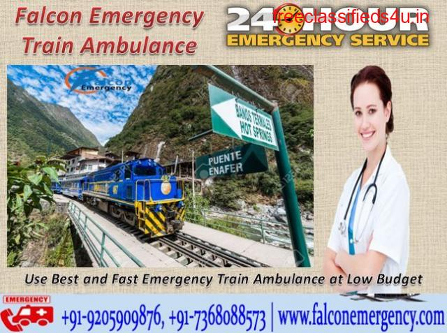 Get Train Ambulance from Patna to Delhi at Low-Cost with Medical Facility - Falcon Emergency