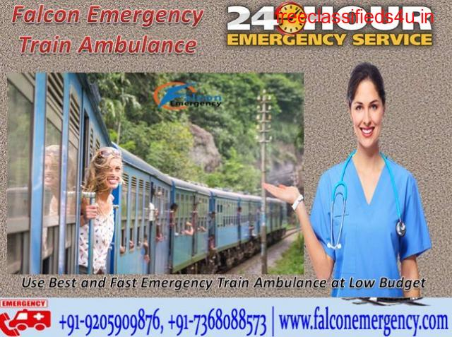 Get Falcon Emergency Train Ambulance from Delhi with the Expert Team Members
