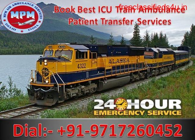 Get MPM Train Ambulance from Patna to Delhi at the Lowest Cost with Medical Team