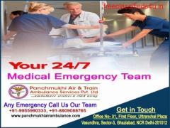 Get Immediate Panchmukhi Train Ambulance from Patna to Mumbai at Low Budget