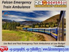 Get Falcon Safest Emergency Train Ambulance from Patna to Mumbai with Dedicated Medical Team
