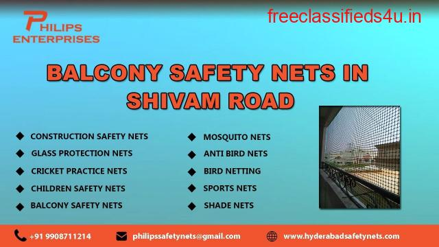 Balcony Safety Nets in Shivam Road