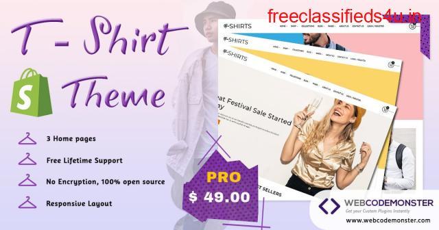 T Shirts Website Templates
