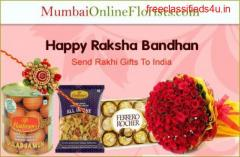 Order Amazing Rakhi Gifts to Mumbai at a Low Price-Free Shipping Assured