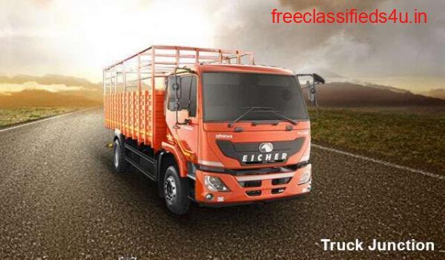 eicher truck - sadak par ek leader