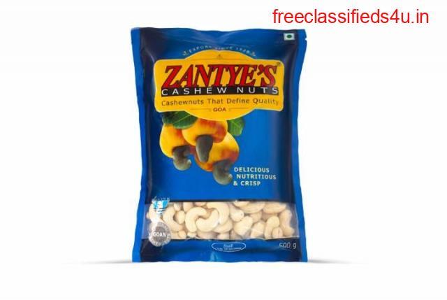 Best Quality Zantye Cashew W320 500gms in Goa India - Zantye