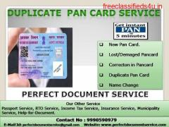 PAN Card Lost  | Create Duplicate Pan Card  |  Apply Online Task.