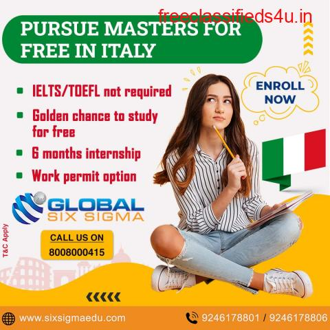 Study in Italy for free with assistance from Global Six Sigma Consultants