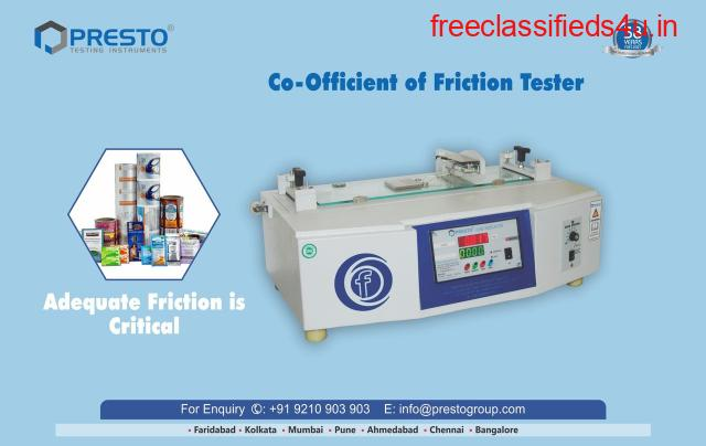 Coefficient Of Friction Tester Manufacturer