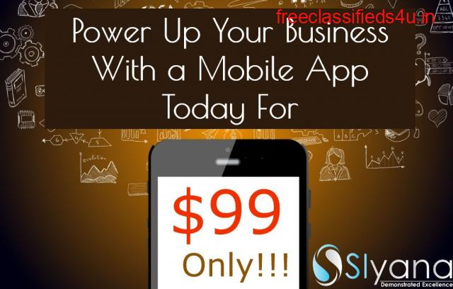 Power Up Your Business With a Mobile App For $99 Only!