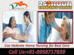 Get Vedanta Home Nursing Service in Kankarbagh, Patna with ICU Facility