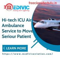 Get Dominant ICU Support Medivic Air Ambulance Service in Allahabad