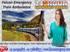 Use Cost-Effective Train Ambulance from Patna to Delhi with Medical Facility