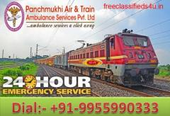 Get Best and Reliable ICU Train Ambulance from Patna to Delhi by Panchmukhi