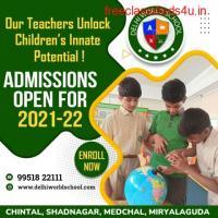 CBSE School Admissions  Best School    Hyderabad - Delhi World School