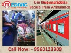 Medivic Aviation Train Ambulance in Lucknow-24/7 Transportation Facility