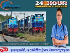 Avail ICU Train Ambulance Services from Guwahati by Falcon Emergency