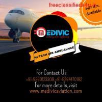 Choose Hi-fi ICU Support by Medivic Air Ambulance Service in Dibrugarh