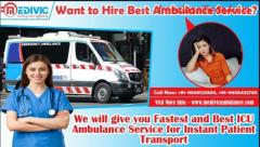 Road Ambulance Service in Delhi with Medical Team by Medivic Ambulance