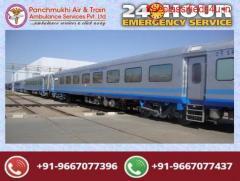 Get Best and Safe Panchmukhi Train Ambulance Services in Kolkata