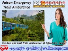 Get Falcon Emergency Train Ambulance in Kolkata - 24 Hours Available For Emergency Facility
