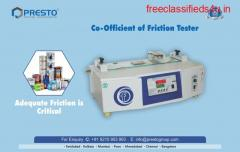 Coefficient of Friction Tester Manufacturer and Supplier