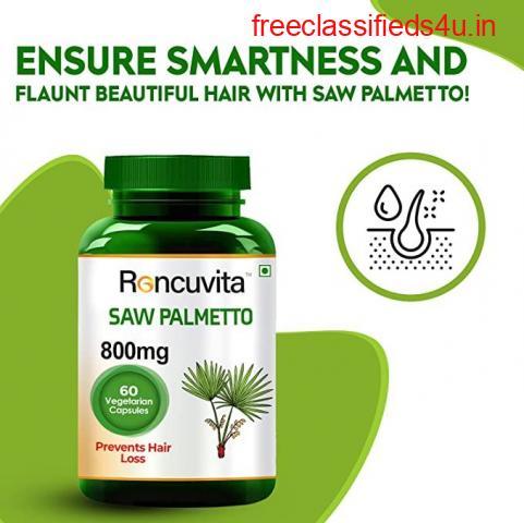 Buy Saw Palmetto vegetarian capsules for hair care   Roncuvita