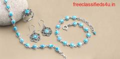Shop Sterling Silver Real Larimar stone Jewelry at Wholesale price