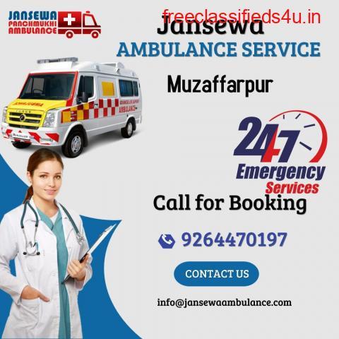 Inexpensive Ambulance Service in Muzaffarpur, Bihar by Jansewa
