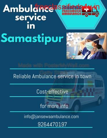 Hi-Tech Ambulance Service in Samastipur by Jansewa