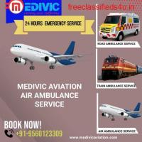 Perfect Therapeutic ICU Air Ambulance Service in Patna by Medivic