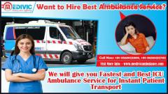 Book Medivic Ambulance Service in Varanasi with Medical Assistance
