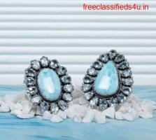 Real Sterling Silver Larimar stone rings at Wholesale price