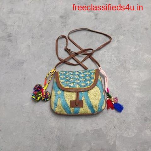 Buy Printed Sling Bags at Jaipur Mela