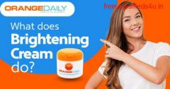Dual Action Skin Brightening Cream with Natural Glow | Orange Daily
