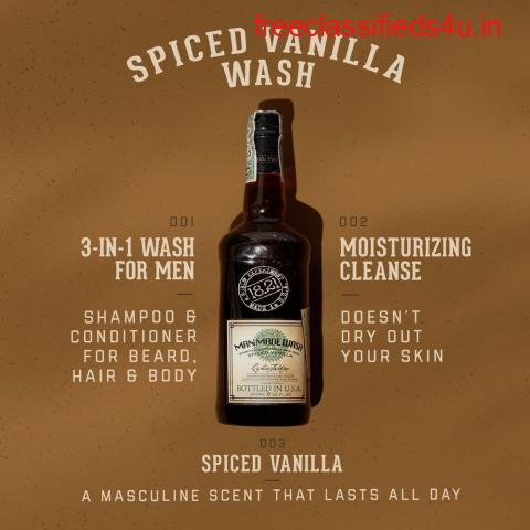 Professional Grade 3-in-1 Body Wash For Men   1821 Man Made