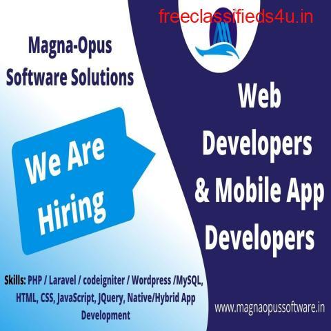 Mobile Application Developer and Web Developer - Urgent Hiring
